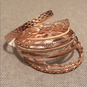 True Love Textured Bangle Bracelet Set